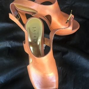 Open Toe Ralph Lauren shoes. Size 7